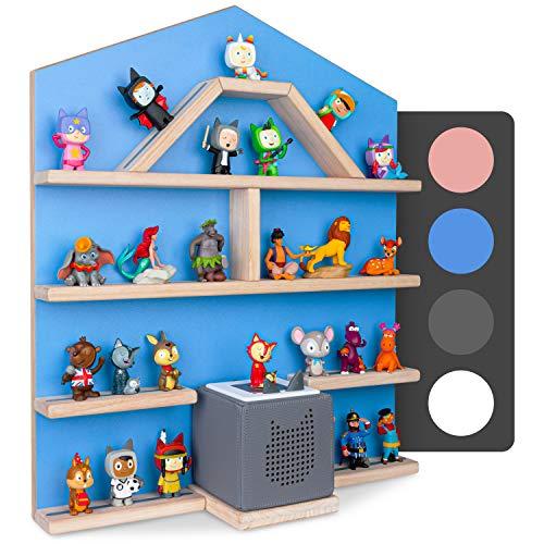 Little Moonshine Regal für Tonie Box und Tonies [DAS ORIGINAL] - Das Regal für Toniebox und bis zu 52 Tonies - Magnetisches Wandregal für Tonies - 4 passend zur Toniebox (Blue)