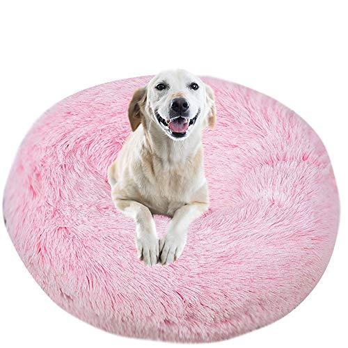 IEUUMLER Caldo Sacco a Pelo Morbido Accogliente Letto Cuscino per Cani Gatto IE119 (Diameter:40cm, Gradient Pink)