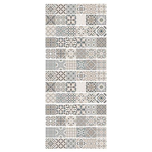 ZDDBD 3D Stair Stickers Wall Stair Stickers For Home Decor, Waterproof Stairs Mural, Decals Peel For Stair Decor Stair Stickers Mural Wallpaper 18 * 100Cm * 13Pcs- Mosaic Pattern