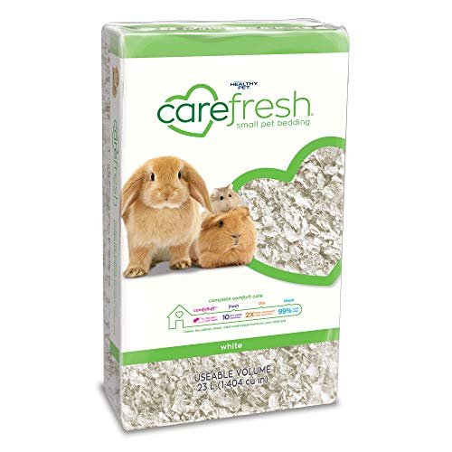 Carefresh 99% Dust-Free White Natural Paper Small Pet Bedding with Odor Control, 23 L