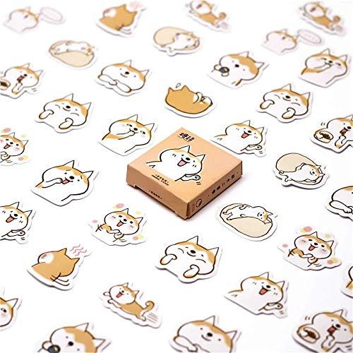 Mini Cute Kawaii Cartoon Dog Pattern Bloc de Notas Notas Adhesivas Memo Notebook Papelería Nota Papel Pegatinas Útiles Escolares