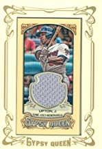 Justin Upton player worn jersey patch baseball card (Atlanta Braves) 2014 Topps Gypsy Queen #GMRJU