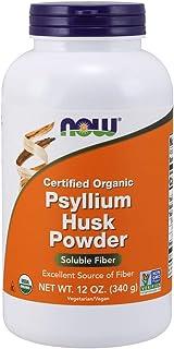 NOW Foods - Psyllium Husk Powder Intestinal Health 100% Certified Organic - 12 oz. (Pack of 3)