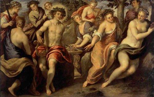 Kunst für Alle Impresión artística/Póster: Jacopo Palma il Giovane Parnassus - Impresión, Foto, póster artístico, 95x60 cm