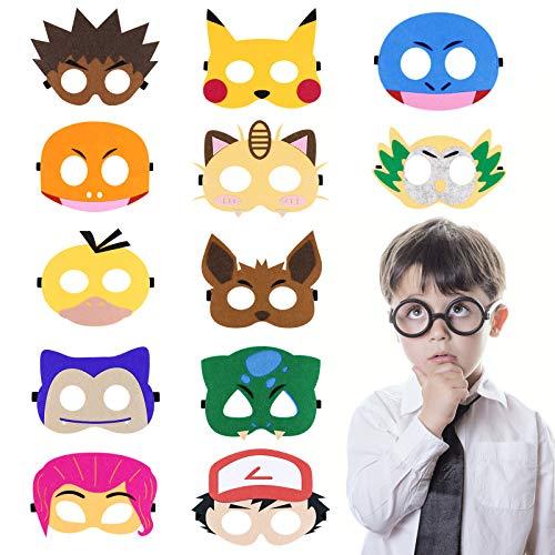Cypin Tiermasken Spielzeug Party Masken 12 Stück Kinder Cosplay Masken Geburtstag Augen Masken Halloween Maske Partymasken Weihnachten Geburtstag Geschenke für Kinder