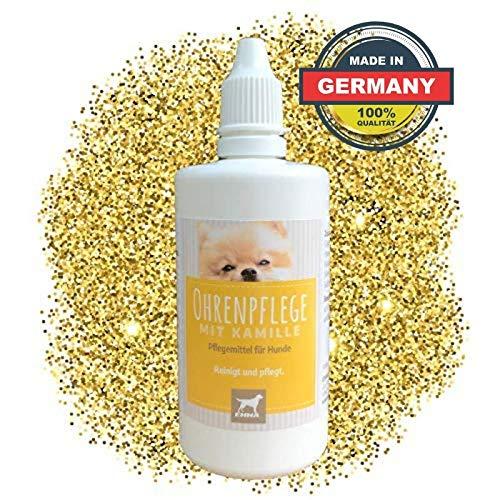 EMMA® Oorreiniger hond I Oorverzorging I Oorreiniger plus kamille I Oordruppels tegen jeuk, geur, kopschuddende honden