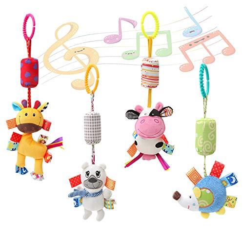Czemo Baby Kinderwagen Spielzeug Kinderbett Anhänge Hängen Rassel Kleinkind Spielzeug laufstall Spielzeug mit Klingel Glocke Soft Rassel Kinderbett Spielzeug für Neugeborene und Kleinkinder