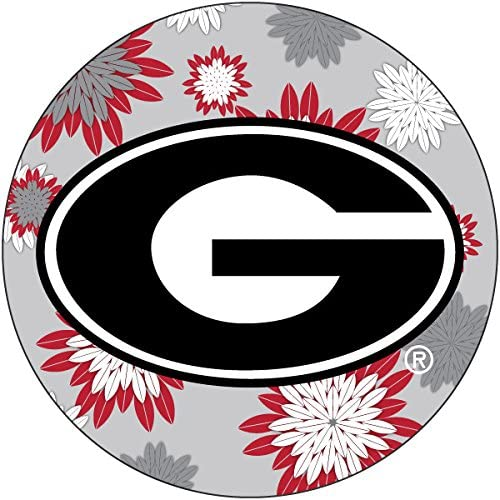 R and Branded goods Imports Georgia Bulldogs Magnet Special Campaign Round Inch 4 Floral