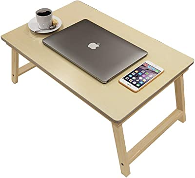 Multi-Functional Laptop Bed Table and Sofa Bed Breakfast Bed Tray Folding Coffee Tray Table Notebook Stand Can Be Placed on The Sofa or Floor (Color : Natural, Size : 30cm)