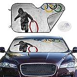 オリンピックリング Olympic Rings バケットシートカーシートカバー 座席用シート 車用 簡単取付 フリーサイズ カー用品 おしゃれ 雑貨 ずれにくい