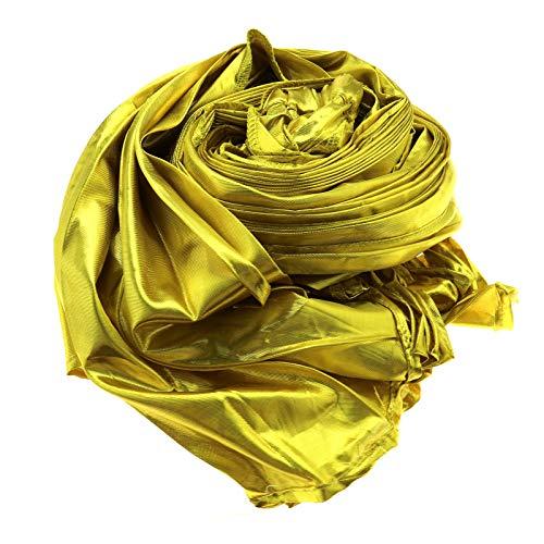 Create Idea Flügel Bauchtanzschleier Schal Fasching Karneval GoldTuch Halbrundtuch Schließen Karneval Samba Kostüm Tuch Halbrundtuch