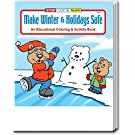 25-Pack - Make Winter and Holidays Safe - Coloring and Activity Books for Kids, Without Crayons - Creative & Educational Gifts for Girls and Boys - Inexpensive Christmas Handouts - Games & Puzzles