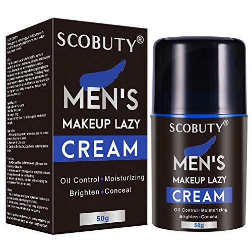 BB Creme, CC Creme, Flüssige Grundierung, Primer Makeup, Feuchtigkeitsspendende Männer light makeup Lazy Cream,Erhelle das Gesicht Langlebig und Perfekte Abdeckung,Feuchtigkeits Ölkontrolle, 50g