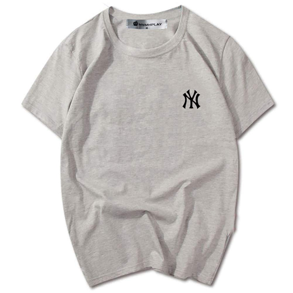 CPAI Unisex Teens MLB NY Yankees Camiseta de Manga Corta Ocio Deportes Béisbol Camiseta de algodón para Hombres y Mujeres,Gris,M: Amazon.es: Hogar