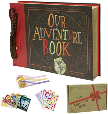 IngTall Our Adventure Book Photo Album 80 Pages Embossed Cover Scrapbook 11 6x7 5 Inches UP product image