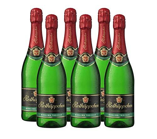 Rotkäppchen Sekt Flaschengärung Riesling trocken 6er Set (6 x 0,75l) – Premiumsekt deutscher Weine – perfekt zum Anstoßen/ besondere Momente/Geburtstage/ als Geschenk/ Mitbringsel