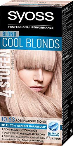 Syoss Blond Cool Haarfarbe, 10-53 Rose Platinum Stufe 3, 3er Pack (3 x 115 ml)