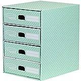 Bankers Box Style - Módulo con 4 cajones, verde y blanco