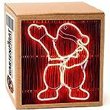 Neon-Lichtschlauchfiguren mit LED beleuchtet zur Deko Weihnachten außen (Weihnachtsmann 47x40)