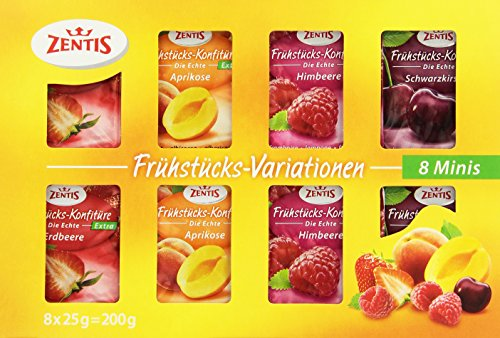 Zentis Frühstücks-Variationen Konfitüre Extra Portionspackungen sortiert, 19er Pack (19 x 200 g)