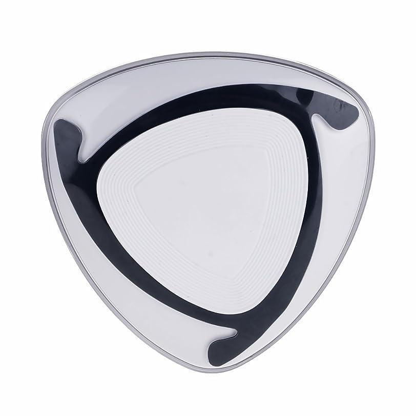 中級判定礼拝iPhone X 10/8 Plus用 QI M7 空飛ぶ円盤ワイヤレスチャージャー パッド ブラック+ホワイト