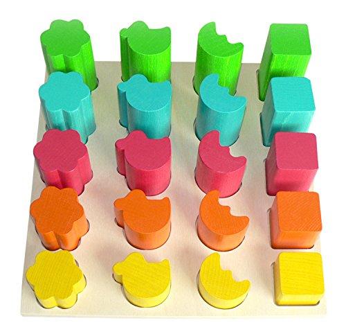 Hess 14867 Jeu de Machine à Fente Jeu Former 20 pièces! colorés motricité en Bois