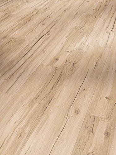 Parador Klick Vinyl Bodenbelag Basic 4.3 Eiche Memory geschliffen Landhausdiele Gebürstete Struktur 2,383m², hochwertige Holzoptik hell braun/beige 4,3mm, einfache Verlegung