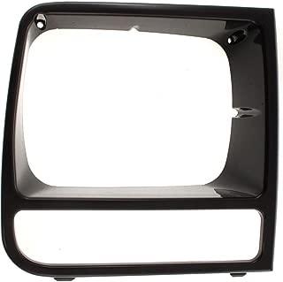Diften 168-C4470-X01 - 97-01 Jeep Cherokee Black Headlight Headlamp Trim Bezels Left & Right Pair Set