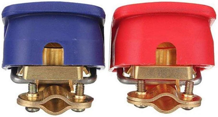 LKW,Rot Und Blau 2-teilige Batterie-Schnellklemmen Schnellverschluss 12V Batterie Schnellspanner KFZ Auto Batterie Schnellklemmen Abnehmbare Kopfklemme positiv negativ f/ür PKW