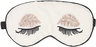 ACTLATI Silk Sleep Eye Mask Sequin Eyelashes Blindfold with Elastic Strap Soft Eye Cover for Night Sleeping, Travel, Nap