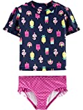 Simple Joys by Carter's Girls' Toddler 2-Piece Rashguard Set, Popsicals, 5T