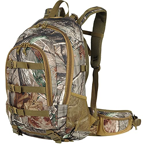 Hunting-Backpack Camo Hunting-Pack Waterproof - Durable Outdoor Daypack with Rifle Holder Camouflage