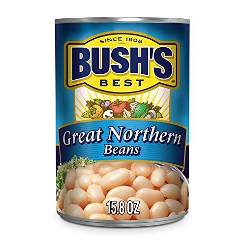 BUSH'S BEST Canned Great Northern Beans, 15.8 oz