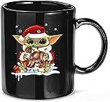 Tazze da caffè in ceramica natalizie per cani divertenti #Yoda Hug Collie Dog