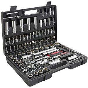 T-Lovendo TLV108p Maletin de Herramientas 108 pcs llaves carraca vasos puntas allen caja maleta