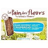 Le Pain Des Fleurs Organic Buckwheat Crisp Bread No Salt 125 g (Pack of 6)