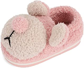 LACOFIA Toddler Girls Winter Slippers Cute Animal Slippers Little Kids House Shoes Plush Warm Slippers for Boys