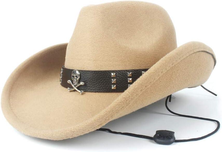 HHHCM-US Women Men Unisex Our shop most popular Wool Hollow latest Cowboy for Gen Western Hat