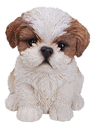 Vivid Arts Hundefigur Shih Tzu Welpe, Pet Pals, Braun / Weiß