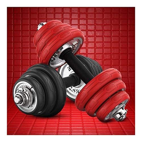 AJH Mancuernas Mancuernas Fitness para Hombres 15 kg, 20 kg Barra 30 kg Dos Mancuernas Ajustables Equipo de Ejercicios Mancuernas para el hogar Peso para Entrenamiento de Fuerza Le