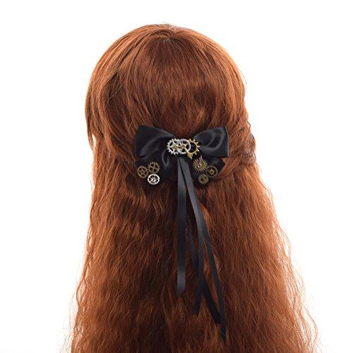 BLESSUME Frau gotisch Steampunk Getriebe Haarspange Retro Kopf Zubehör (G)