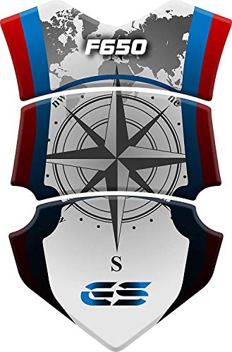 Tankpad Motorrad Draht Muster Tankschutz Polymer für BM.W F 650 GS F650 Weiß Blau Rot
