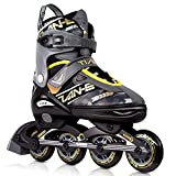 KOVEBBLE Inline Skates for Kids and Adults, Adjustable Blades Roller Skates for Girls, Boys and Teens, Roller Shoes for Women and Men (Color A, M)