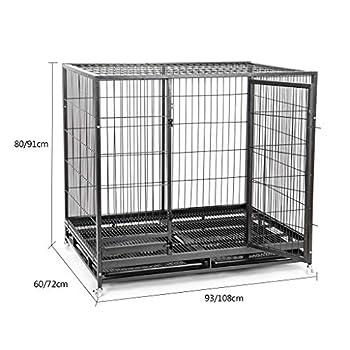 Chenils Cages Pet Cage Chien Cage Petit Chien d'intérieur avec Toilette clôture intérieure clôture Chiots et Chats pour 25kg Animaux de Compagnie avec puits de Cages