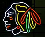 Urby 17'x14' Chicago Sports team Blackhawk Hockey Handmade Real Glass Neon Sign (MultipleSizes) Beer Bar Light Handicraft U90
