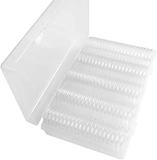 100Pcs Coin Capsules Holder, Clear Round Coin Collection Cases Storage Box Display Holder for Coin Collection Supplies(27m...