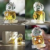 H & D Kristall Figur Eule Kollektion Briefbeschwerer Tisch Mittelpunkt Ornament, gelb - 7