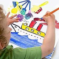TOP-MAX - Kit di pennelli in spugna, kit di pennelli per pittura per bambini, per apprendimento precoce per bambini, kit di pittura fai da te per imparare i bambini, 56 pezzi #4