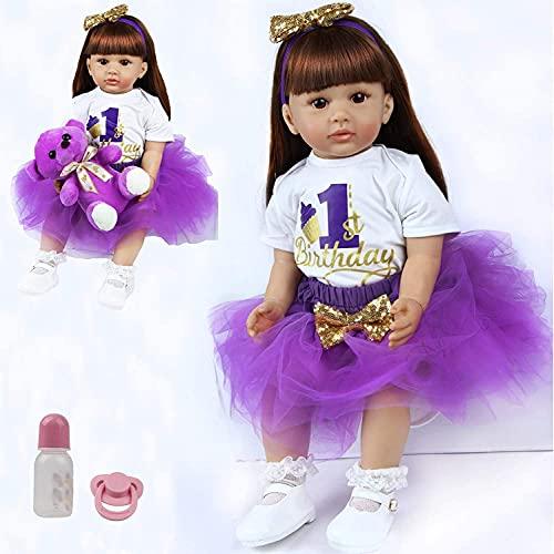ZIYIUI Reborn Baby Dolls 24 Inches Reborn Toddler Girl Doll Soft Silicone...
