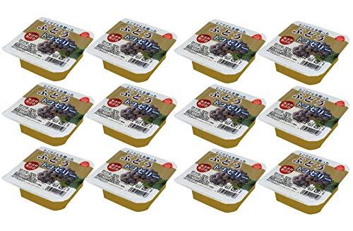 無添加 フルーツ トコゼリー ( ブドウ )130g ×12個★ 宅配便 ★ぶどうをミキサーにかけて作ったジュースと 国産りんごジュースを合わせ、土佐の海で採れた 天草・寒天・特製蒟蒻粉で固めたゼリーです。 香料・保存料・着色料を使っていませんので、 果物